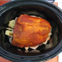 Slow Cooker Pulled Pork in the pot