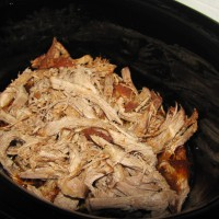 Slow Cooker Pulled Pork shredded