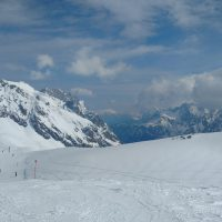 Skiing at Zugspitze