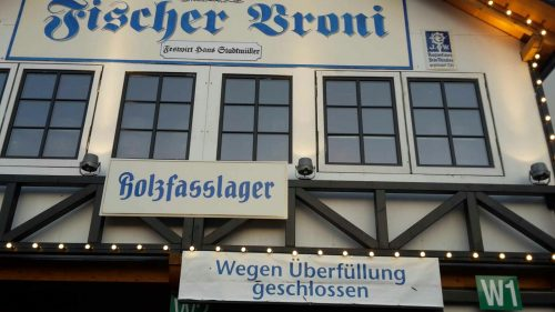 Closed beer tent, Beer Festivals in Germany