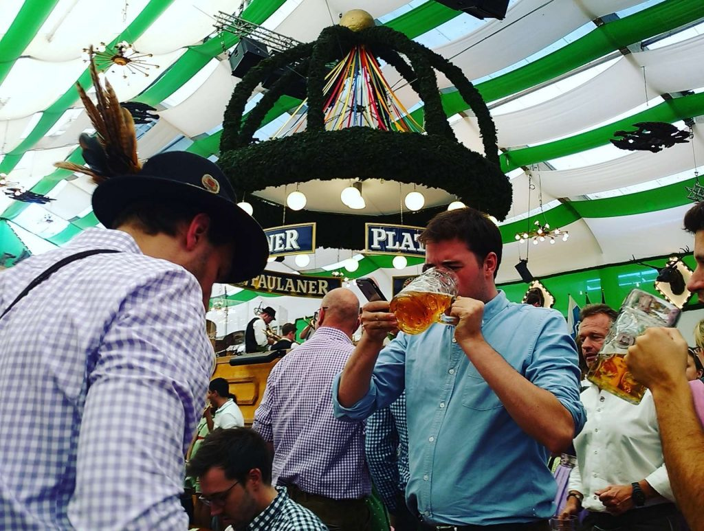 Other Americans Abroad visiting Oktoberfest