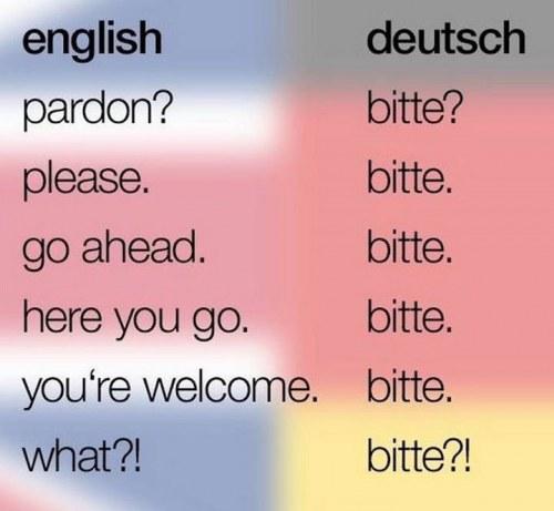 Bitte, German for Oktoberfest