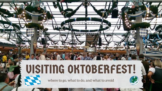 Visiting Oktoberfest, inside a beer tent