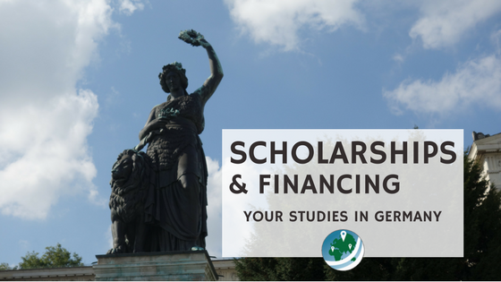 scholarships in Germany featured image, the Bavaria Statue in Munich