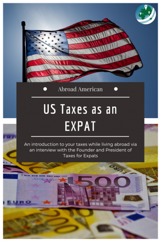 US Taxes as an Expat Pinterest Graphic