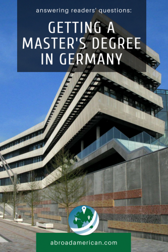 getting a master's degree in Germany pinterest